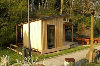Individuelle Holzhütte